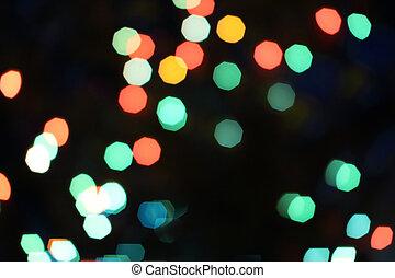 luces,  bokeh,  Defocused, Plano de fondo, multicolor