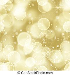 luces, bokeh, seamless, oro, espalda
