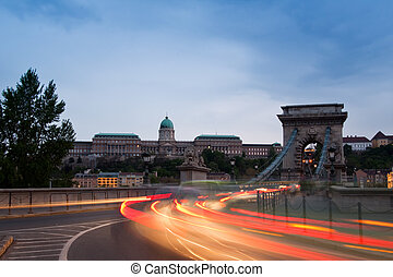 luces, budapest, noche