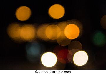 luces, calle, defocused