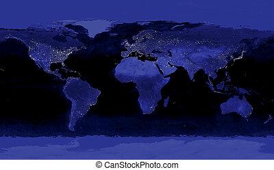 luces, ciudad, earth's