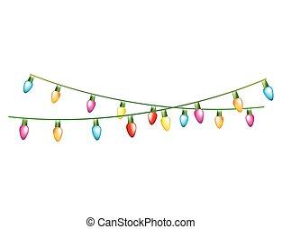 luces de navidad, colores, eléctrico