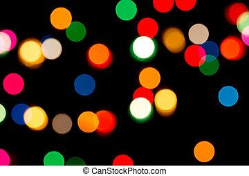 luces de navidad, plano de fondo