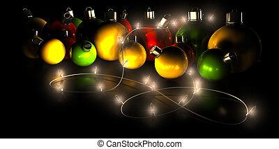 luces, decoraciones de navidad