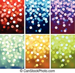 luces, defocused, vector