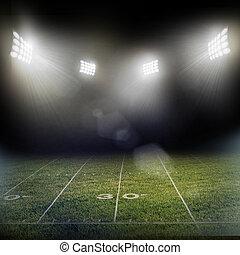 luces, estadio, destellos