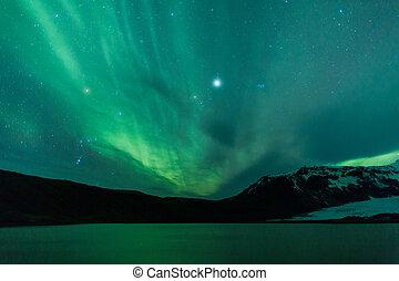 luces, norteño, islandia