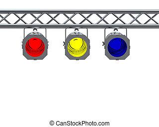 luces, punto
