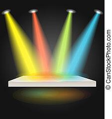 luces, punto, etapa