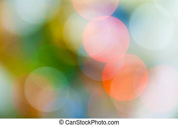 luces, resumen, defocused, plano de fondo, navidad