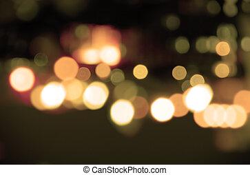 luces, sepia