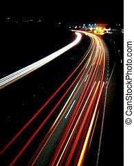 luces, tarde, tráfico