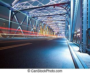luces, tráfico, noche