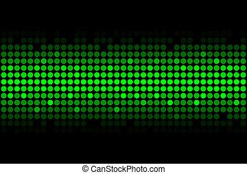 luces, verde