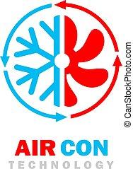 lucht, con, logo, vector