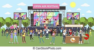 lucht, open, festival.