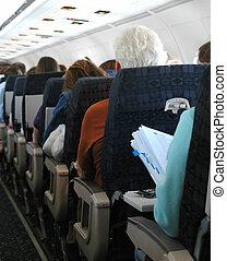lucht, passagiers