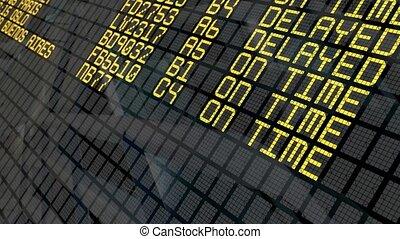 luchthaven, vertrek, plank