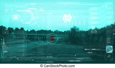 luchtopnames, bewaking, monitor