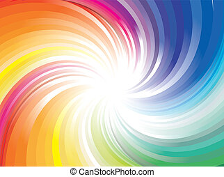 luci, arcobaleno, esplosione, raggio