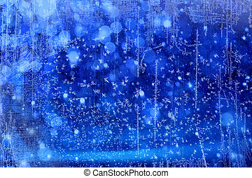 luci blu, arte, natale, fondo