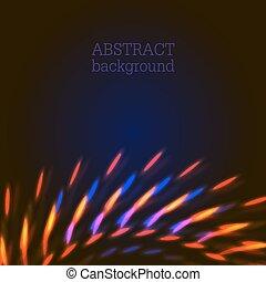 luci blu, astratto, fondo, arancia