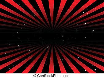 luci, cielo, rosso