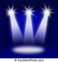 luci, concerto, palcoscenico