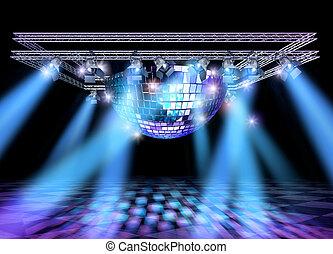 luci disco, costruzione, palcoscenico
