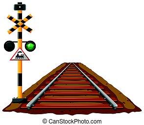 luci, ferrovia, treno, traffico