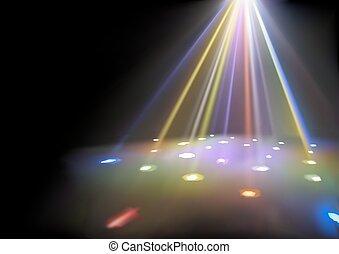 luci, fondo, discoteca