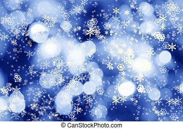 luci, inverno, fondo