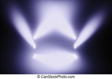 luci, macchia, palcoscenico vuoto