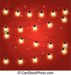 luci natale, -, festivo, carnevale