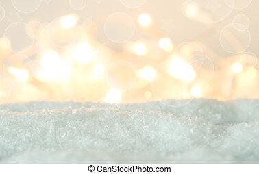 luci, neve, sfocato