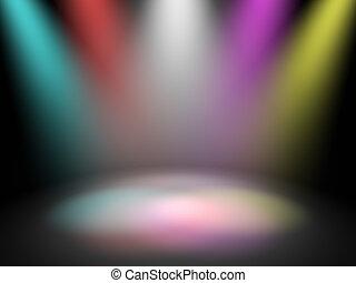 luci, palcoscenico, discoteca