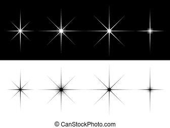 luci, set, stelle, scintilla