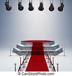 luci, setup, palcoscenico, macchia, 3d