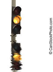 luci, traffico, giallo