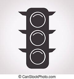 luci, traffico, icona