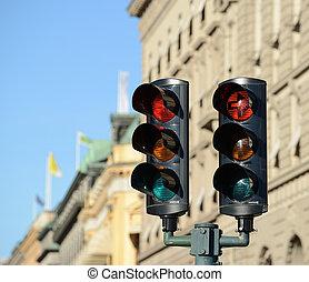 luci, traffico