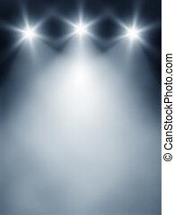 luci, tre, palcoscenico