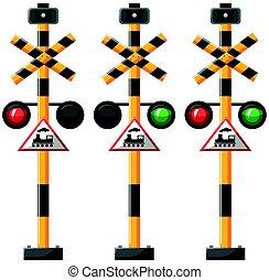 luci, treno, traffico