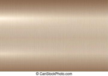 lucidato, baluginante, oro, rosa, metallo, metallico, fondo, spazzolato, texture.