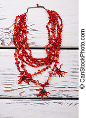 lucidato, rosso, necklace.