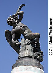 Lucifer - Famous monument of Fallen Angel (Lucifer) in...