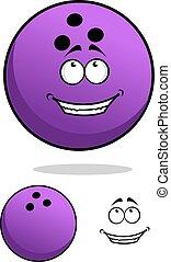 Lucky cartoon bowling ball character