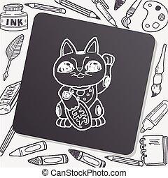 Lucky Cat doodle