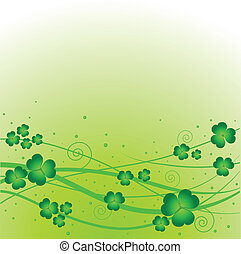Lucky clover background - Lucky clover on green background...