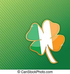 lucky clover illustration design